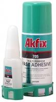"""Клей 705 """"Akfix"""" с активатором для экспресс склеивания"""