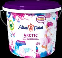 """Alina Paint """"Arctic"""" - моющаяся акриловая снежно-белая краска для стен и потолков"""